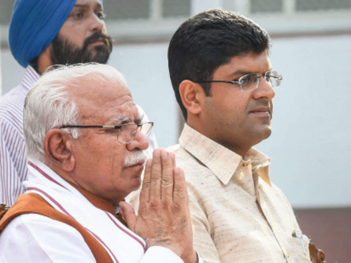 Haryana CM, deputy CM both promise to give state a 'stable, honest' govt |  India News - Times of India