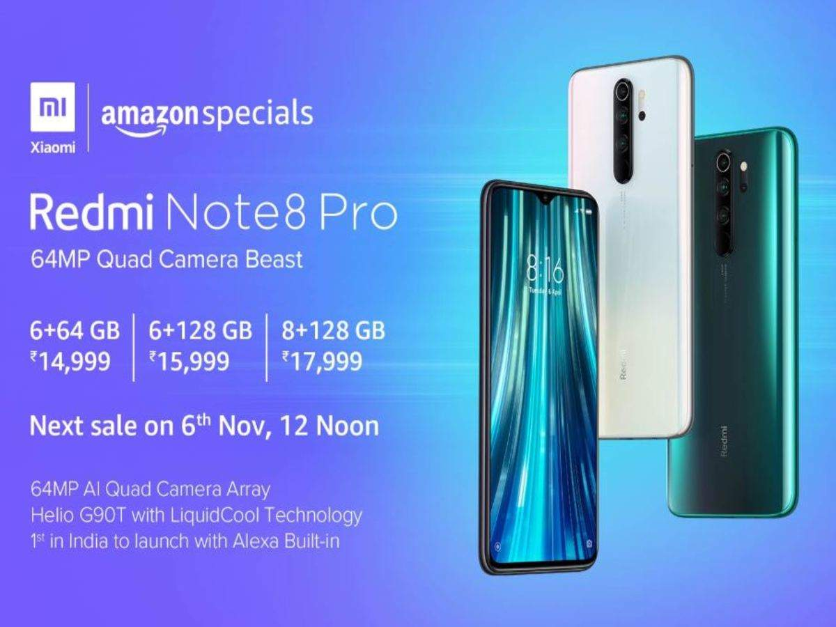 Amazon Exclusive Redmi Note 8 Pro To Go On Sale On Nov 6 Specs Price In India Most Searched Products Times Of India