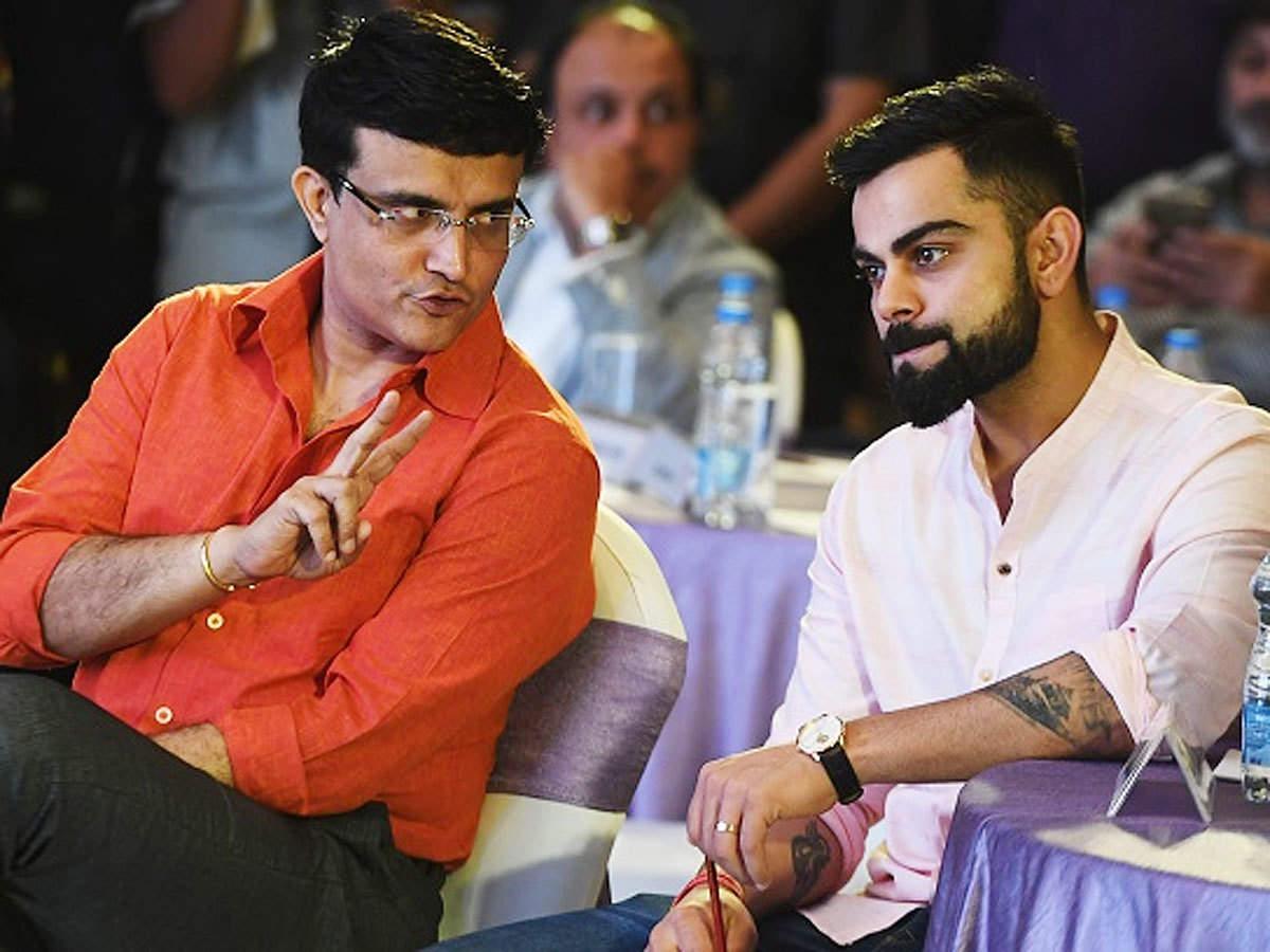 Sourav Ganguly and Virat Kohli. (AFP Photo)