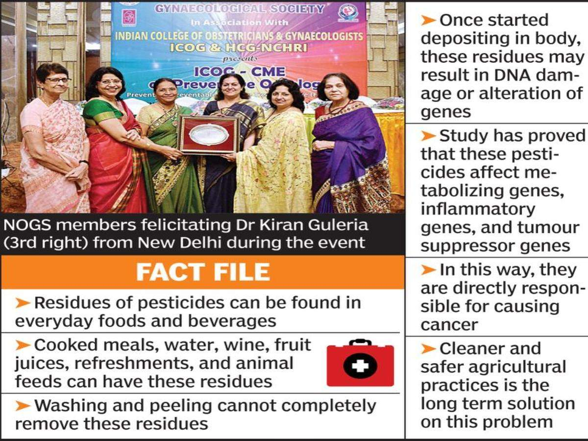 More Insecticide Residues Found In Ovarian Cancer Patients Expert Nagpur News Times Of India