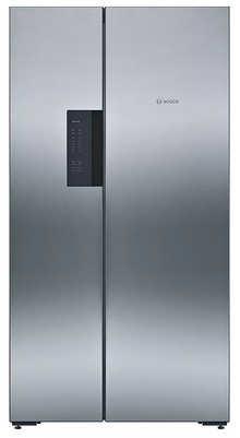 Bosch 661 L Frost-Free Side-by-Side Refrigerator (KAN92VI35I, Stainless Steel, Inverter Compressor)