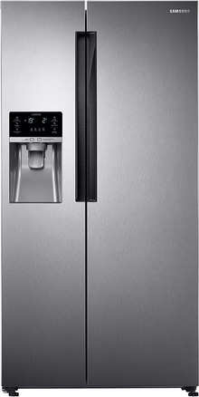 Samsung RS58K6417SL Frost Free Side-by-Side Double-door Refrigerator (654 Ltrs, EZ Clean Steel)