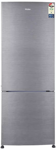 Haier 320 L 3 Star Frost Free Double Door Refrigerator HRB-3404BS-R/HRB-3404BS-E (Silver Brush Line)