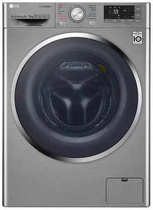 LG 9 Kg Inverter Fully-Automatic Front Loading Washer Dryer (F4J8VHP2SD.AESPEIL, Luxury Silver)