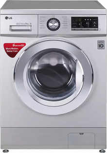 LG 8 Kg Inverter Fully Automatic Front Load Washing Machine with In-built Heater Silver (FH2G6TDNL42)