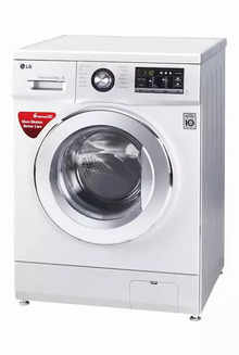 LG FH2G6TDNL42 8 kg Front Loading Fully Automatic Washing Machine (Luxury Silver)