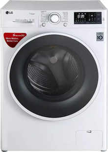 LG 6 Kg Inverter Fully Automatic Front Load Washing Machine with In-built Heater White (FHT1006SNW)