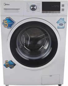 Midea 6 Kg Fully Automatic Front Loading Washing Machine (MWMFL060CPR, White)
