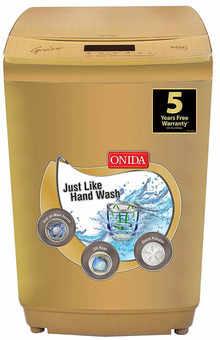 Onida 8.5 Kg Fully Automatic Top Loading Washing Machine (T85GRDD, Gold)