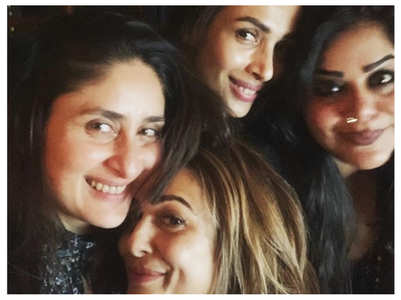 Kareena catches up with BFFs Malaika-Amrita
