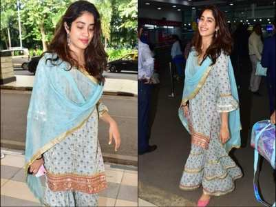 Janhvi slays the airport look elegantly
