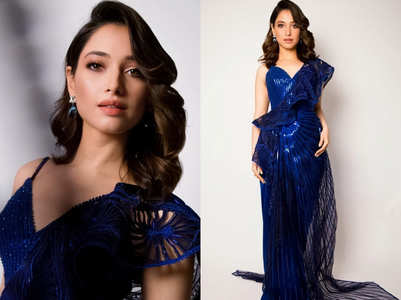 Tamannaah Bhatia's blue new-age SARI is the hottest party outfit ever