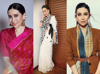 5 times Karisma proved she has the best sari wardrobe in Bollywood