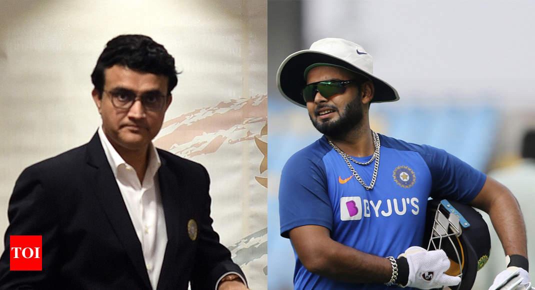 Give Rishabh Pant time, he'll be fine: Sourav Ganguly