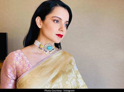 Kangana's golden look for brother's engagement