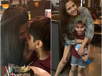 Dalljiet celebrates son's birthday in style