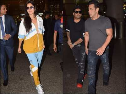 Salman and Katrina papped at the airport