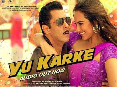 Salman croons the peppy track 'Yu Karke'