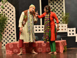 Comedy play 'Beewion Ka Madarsaa' staged in Jaipur