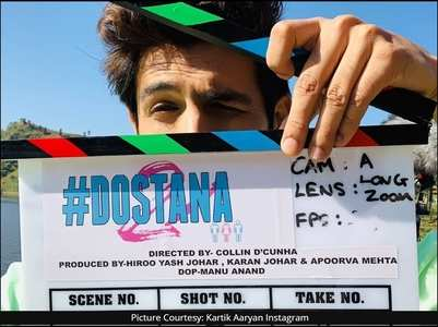 Kartik starts shooting for 'Dostana 2'
