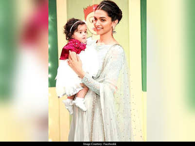 FIVE times Deepika was snapped with kids