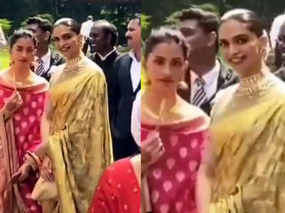 Deepika looks elegant in THIS golden saree
