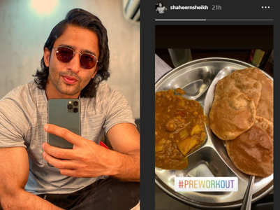 Puri-Bhaji is Shaheer's pre-workout intake