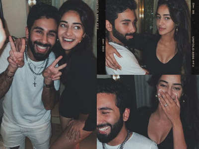 Ananya Panday parties with her pal