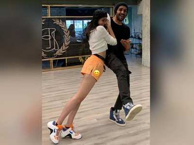 Ananya shares dance rehearsal pics with Kartik
