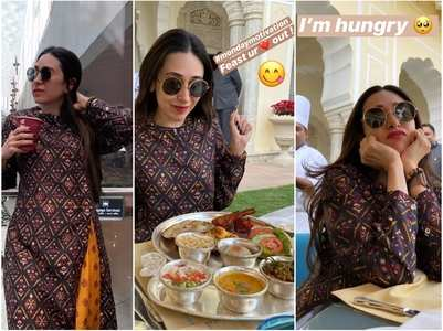 Pics: Karisma Kapoor have fun in Rajasthan