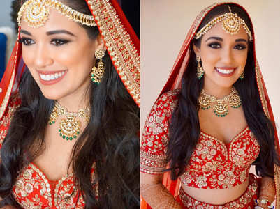 This bride opted for an open hair look at her wedding and looked gorgeous as ever!