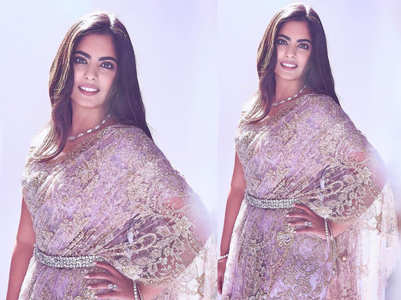 Isha Ambani's lace sari is perfect for your pre-wedding rituals!