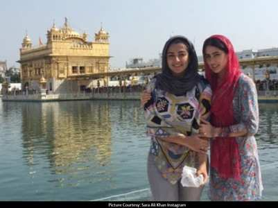 Pic: Sara visits Golden temple to seek blessings