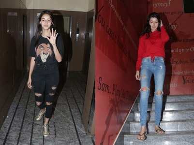 Photos: Ananya's movie night with BFF Shanaya