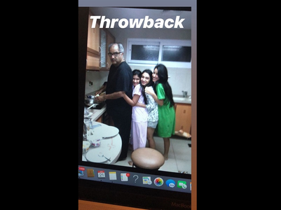Janhvi's adorable throwback pic with Boney