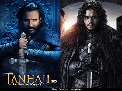 Saif's 'Tanhaji' look reminds fans of Jon Snow
