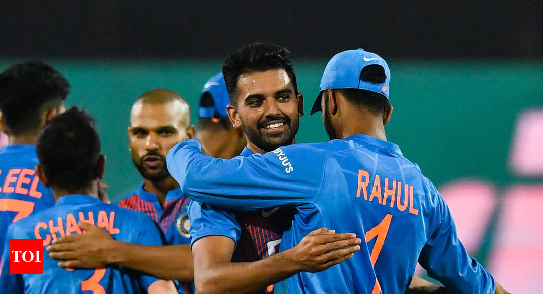 When in trouble, I recall Dhoni bhai's tips: Hat-trick man Deepak Chahar - Times of India