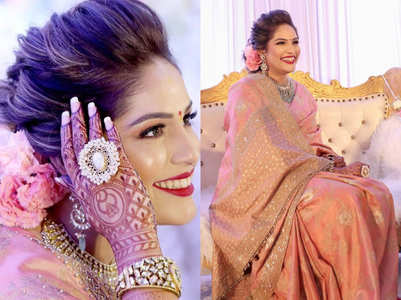 This Bollywood singer wore the most gorgeous silk sari for her engagement