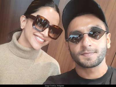 Pics: Deepika and Ranveer leave for Tirupati