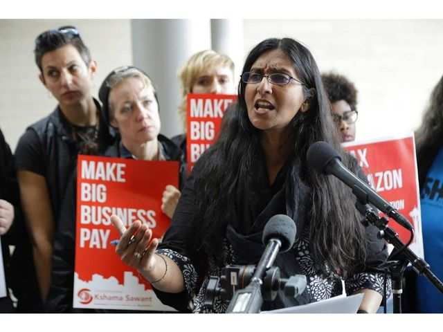 She is Kshama, a socialist. And she just beat Amazon