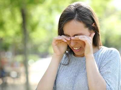 Burning, itchy eyes during pollution?