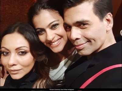 Gauri Khan-KJo-Kajol's unmissable selfie