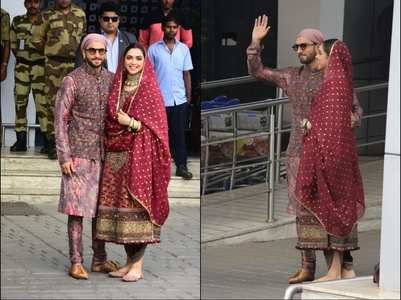 Pics: Deepika and Ranveer return to the bay