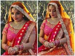 Monalisa looks ethereal in her latest bridal look