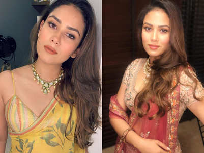 Mira Rajput loves this style of sari and blouse!