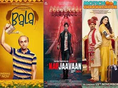 Bala vs 'Marjaavaaan' & 'Motichoor Chaknaoor'