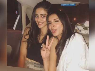 Ananya wishes Tara Sutaria for 'Marjaavaan'