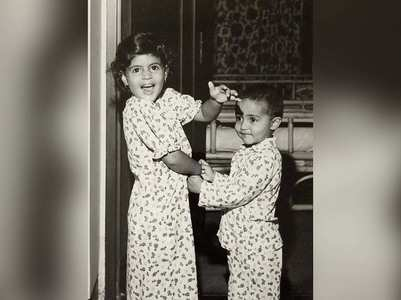Big B shares a cute childhood pic of Jr AB