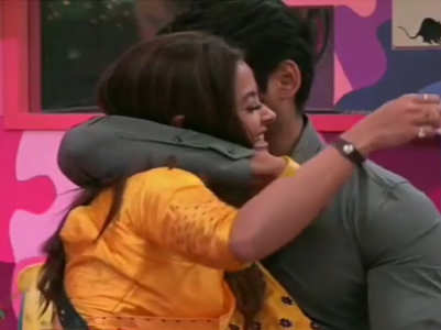 BB13: Sidharth hugs Devoleena during a task