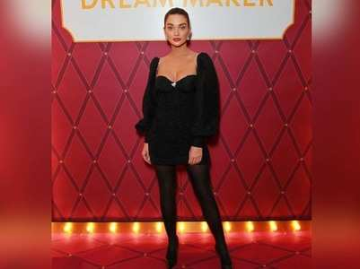 Amy Jackson looks stunning in a black ensemble